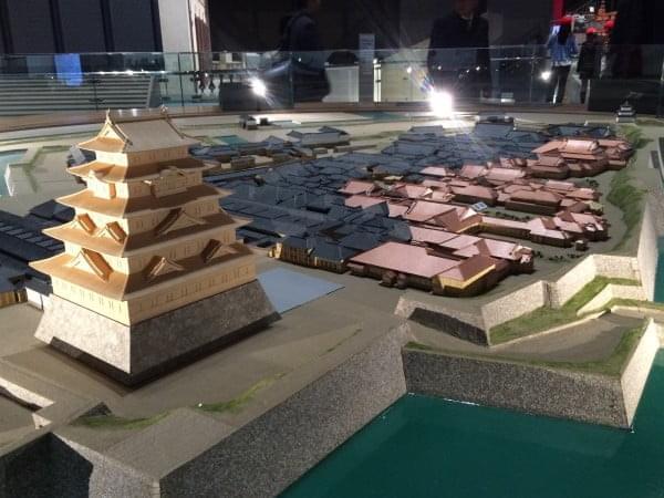 江戸東京博物館江戸城ジオラマ