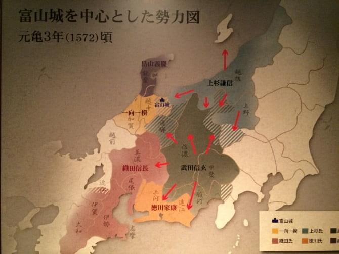 富山城勢力図