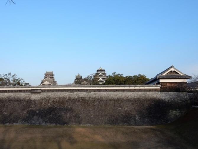 熊本城_09 西出丸塀・石垣と天守、宇土櫓