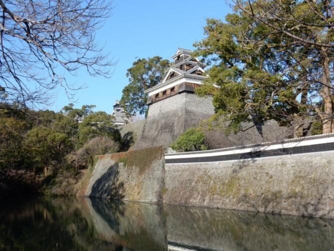 熊本城_03 備前堀と飯田丸五階櫓